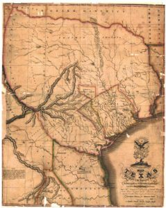 1833 Map of Texas - Tyler Land Surveying