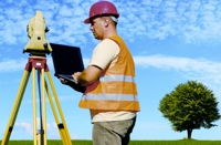 Land surveyor with equipment