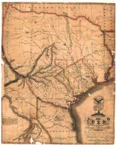 1833 Map of Texas - Tyler Land Surveying