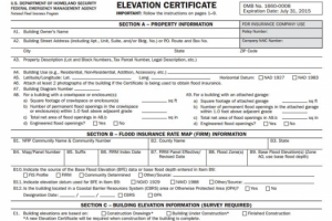 elevation survey, flood survey, elevation certificate